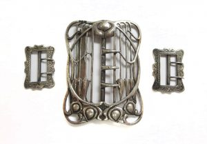 Art Nouveau silver belt buckle, by Liberty of London