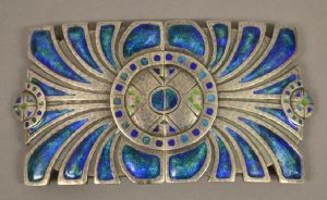 Liberty and Co Silver and Enamel Buckle