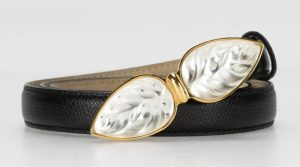A crystal and vermeil belt, signed Lalique